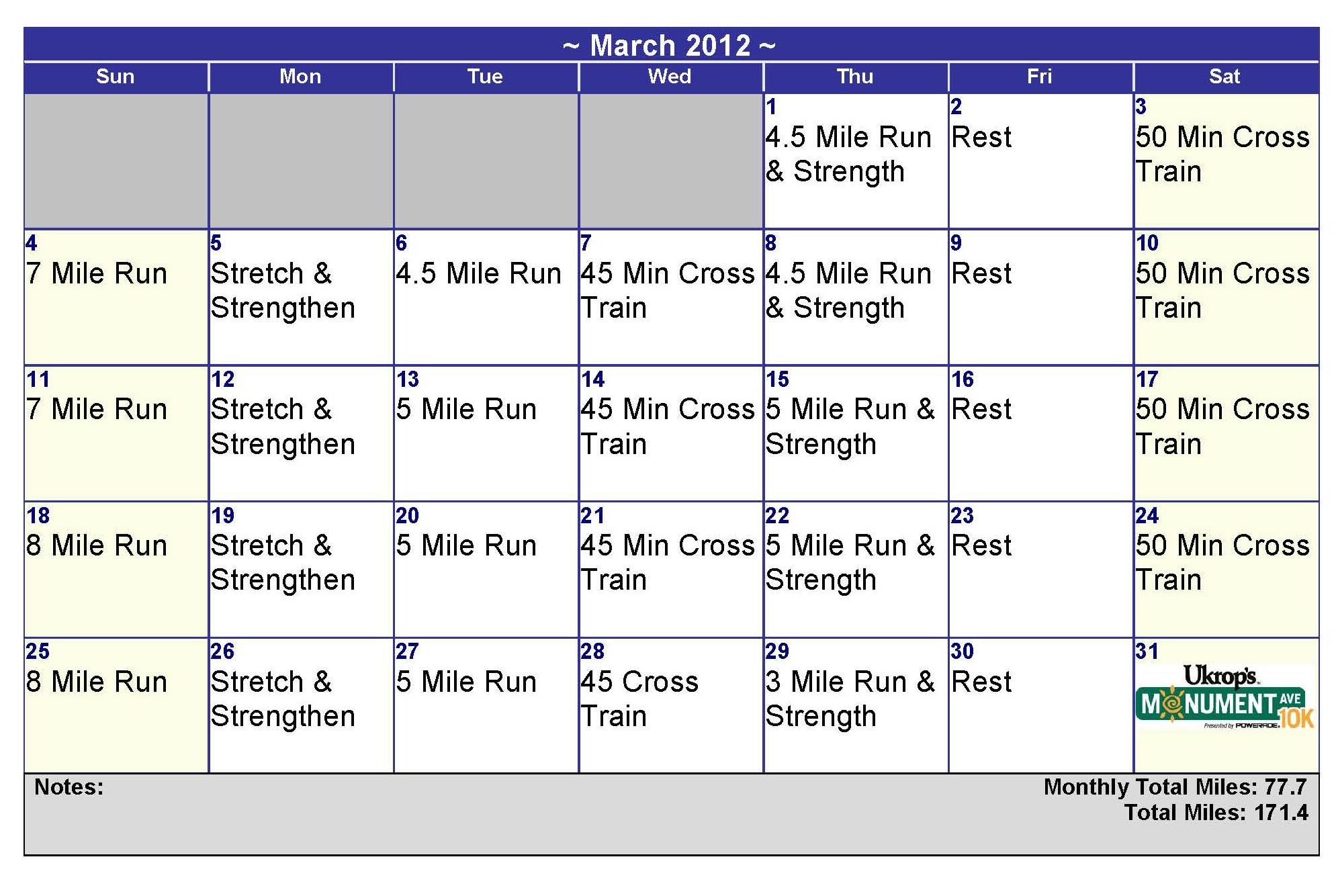 Half Marathon Calendar.Half Marathon Training Calendar The Sassy Swan