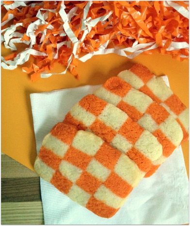 UT Checkerboard Cookies