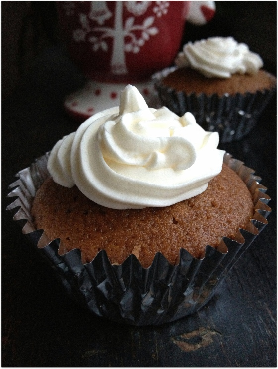 Hot Cocoa Cupcakes with Marshmallow Vodka Frosting