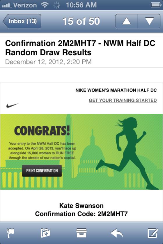 Nike Women's Half Marathon Acceptance