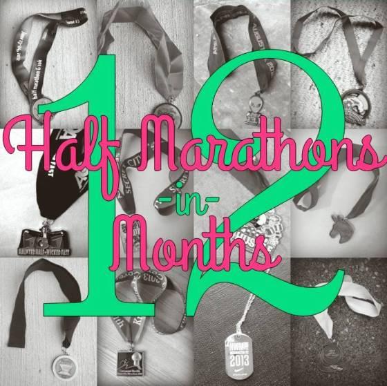 12 half marathons in 12 months