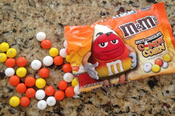 Candy Corn M&Ms